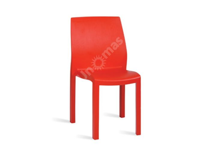 Юмми Пластиковый стул красный, Пляж и сад, Уличная мебель, Стулья и кресла, Стоимость 3435 рублей.