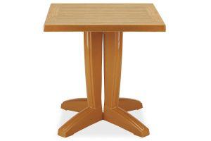 Браво Пластиковый стол 70*70 тиковый дерево