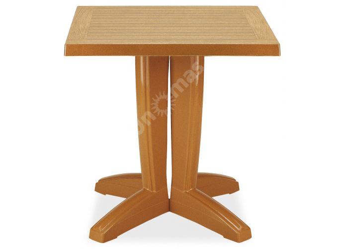 Браво Пластиковый стол 70*70 тиковый дерево, Пляж и сад, Уличная мебель, Столы, Стоимость 8460 рублей.