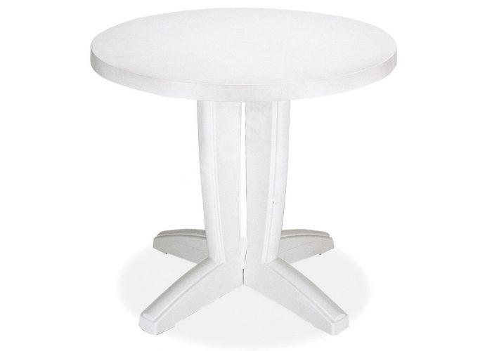 Браво Пластиковый стол Д80 белый, Пляж и сад, Уличная мебель, Столы, Стоимость 5550 рублей.