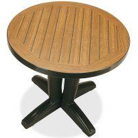 Браво Пластиковый стол Д80 зеленый дерево