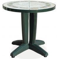 Браво Пластиковый стол Д80 зеленый камень