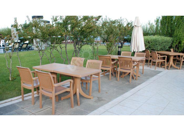 Дива Пластиковый стол 70*120 тиковый дерево, Пляж и сад, Уличная мебель, Столы, Стоимость 13995 рублей., фото 4
