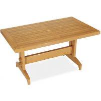 Дива Пластиковый стол 70*120 тиковый дерево