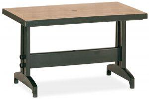 Дива Пластиковый стол 70*120 зеленый дерево