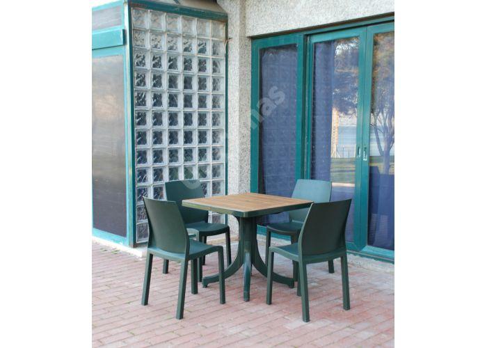 Дива Пластиковый стол 80*80 зеленый дерево, Пляж и сад, Уличная мебель, Столы, Стоимость 10305 рублей., фото 2