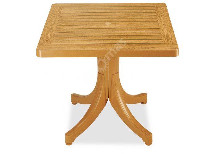 Дива Пластиковый стол 80*80 тиковый дерево, Пляж и сад, Уличная мебель, Столы, Стоимость 10305 рублей.