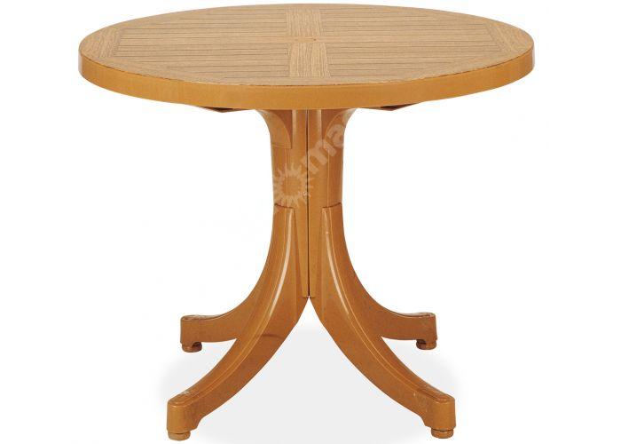 Дива Пластиковый стол круглый тиковый дерево, Пляж и сад, Уличная мебель, Столы, Стоимость 10305 рублей.