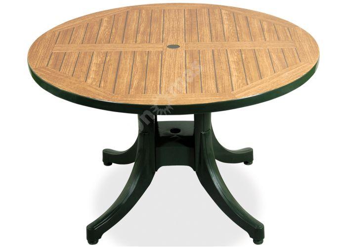Дива Д90 Пластиковый стол круглый зеленый дерево, Пляж и сад, Уличная мебель, Столы, Стоимость 10305 рублей., фото 3