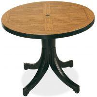 Дива Пластиковый стол 80*80 зеленый дерево