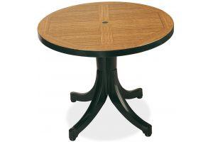 Дива Д90 Пластиковый стол круглый зеленый дерево