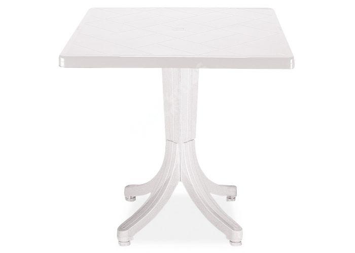 Фавори Пластиковый стол 80*80 белый, Пляж и сад, Уличная мебель, Столы, Стоимость 7140 рублей.