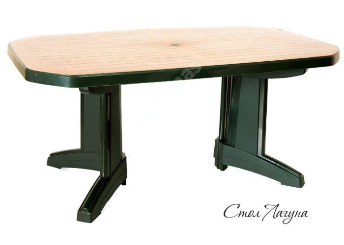 Лагуна Пластиковый стол 100*165 зеленый дерево, Пляж и сад, Уличная мебель, Столы, Стоимость 21645 рублей.