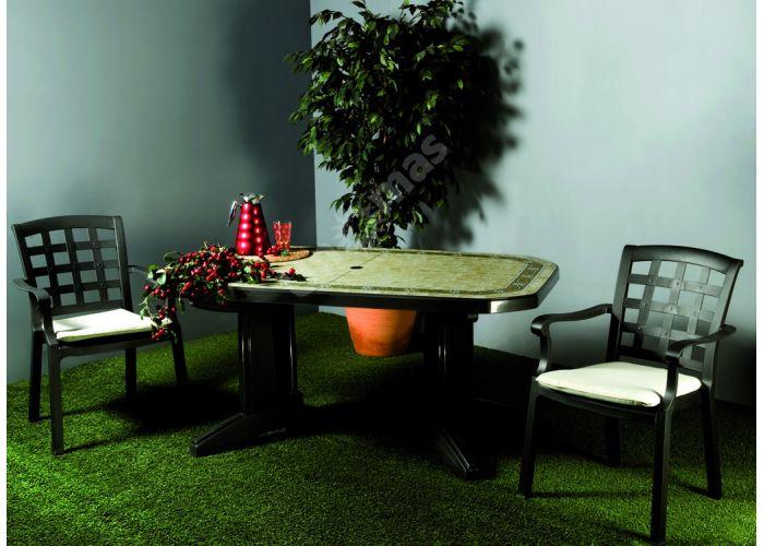 Лагуна Пластиковый стол 100*165 зеленый камень, Пляж и сад, Уличная мебель, Столы, Стоимость 21645 рублей., фото 2