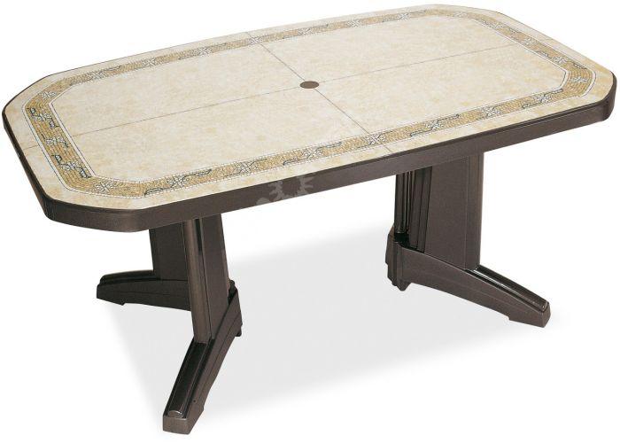 Лагуна Пластиковый стол 100*165 зеленый камень, Пляж и сад, Уличная мебель, Столы, Стоимость 21645 рублей.