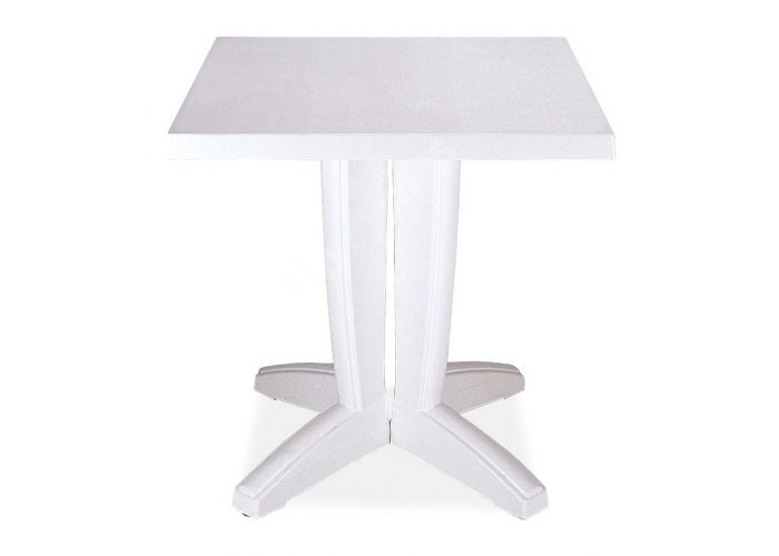 Браво Пластиковый стол 70*70 белый, Пляж и сад, Уличная мебель, Столы, Стоимость 5550 рублей.