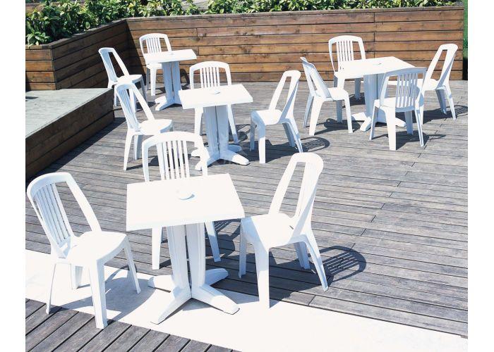 Браво Пластиковый стол 70*70 белый, Пляж и сад, Уличная мебель, Столы, Стоимость 5550 рублей., фото 2