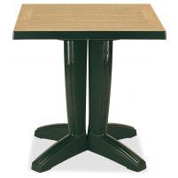 Браво Пластиковый стол 70*70 зеленый дерево