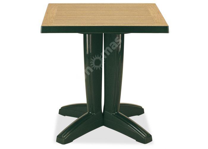 Браво Пластиковый стол 70*70 зеленый дерево, Пляж и сад, Уличная мебель, Столы, Стоимость 8460 рублей.