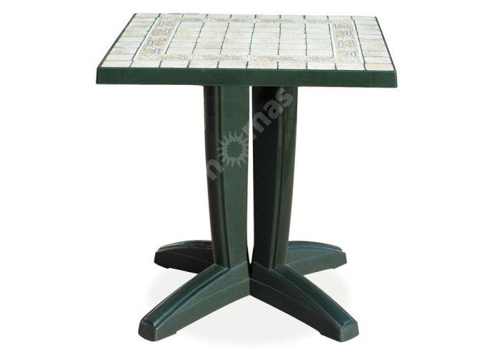 Браво Пластиковый стол 70*70 зеленый камень, Пляж и сад, Уличная мебель, Столы, Стоимость 8460 рублей.