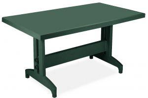 Престиж Пластиковый стол 80*140 зеленый