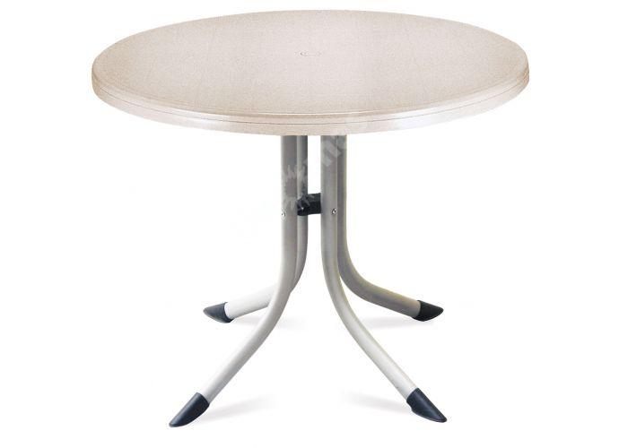Танго Пластиковый стол Д80 слоновая кость, Пляж и сад, Уличная мебель, Столы, Стоимость 12675 рублей.