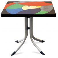 Танго Пластиковый стол 80*80 мультицвет