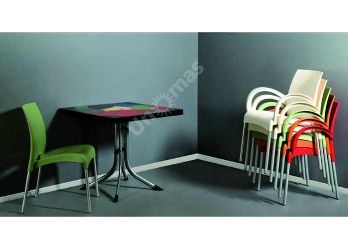 Танго Пластиковый стол 80*80 мультицвет, Пляж и сад, Уличная мебель, Столы, Стоимость 14790 рублей., фото 2
