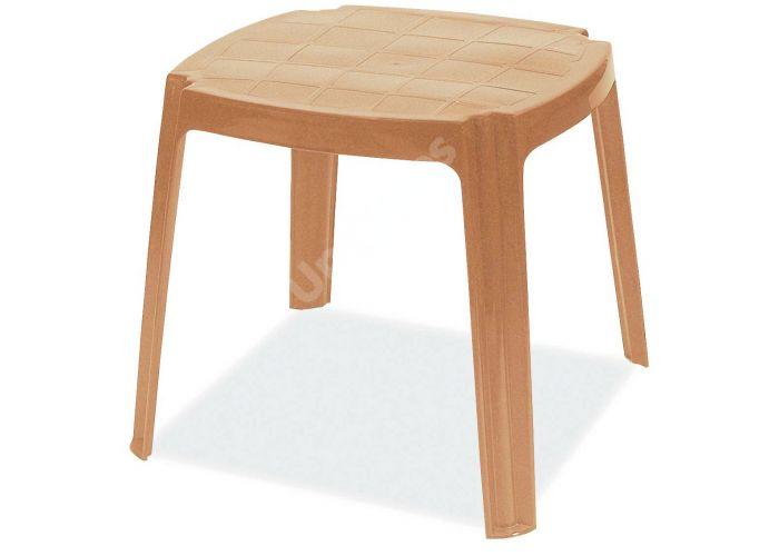 Рояль Пластиковый стол 50*50 тиковый, Пляж и сад, Пляжная мебель, Столики для шезлонгов, Стоимость 1545 рублей.