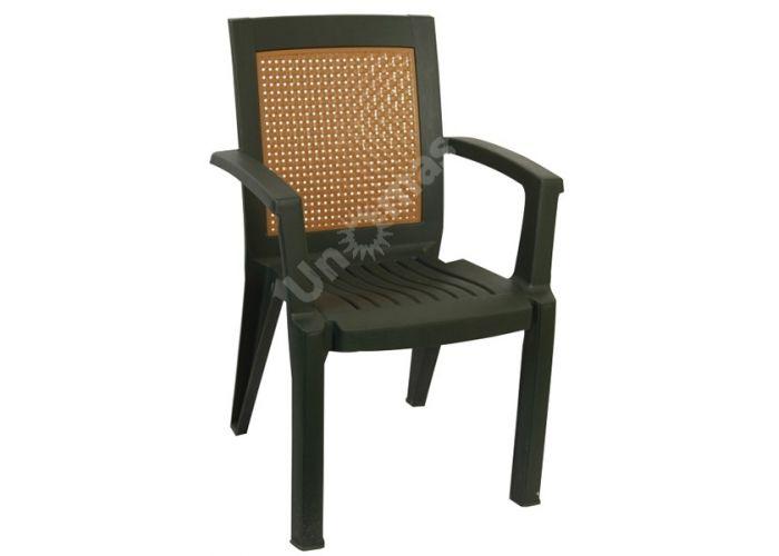 Стул пластиковый CT006 Mimoza зеленый, Пляж и сад, Уличная мебель, Стулья и кресла, Стоимость 1761 рублей.
