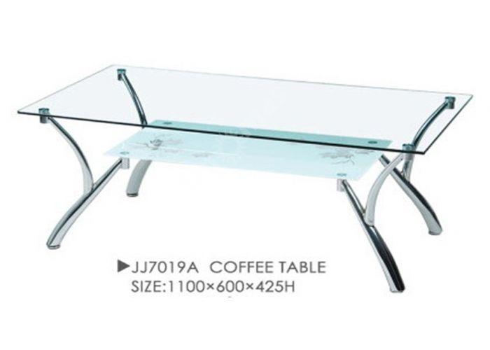 JJ7019A хром/стекло 1100*600*425 (8/6 мм), Гостиные, Журнальные столики, Стоимость 4950 рублей.