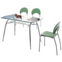 951 хром/стекло 850*850*750 Стол обеденный