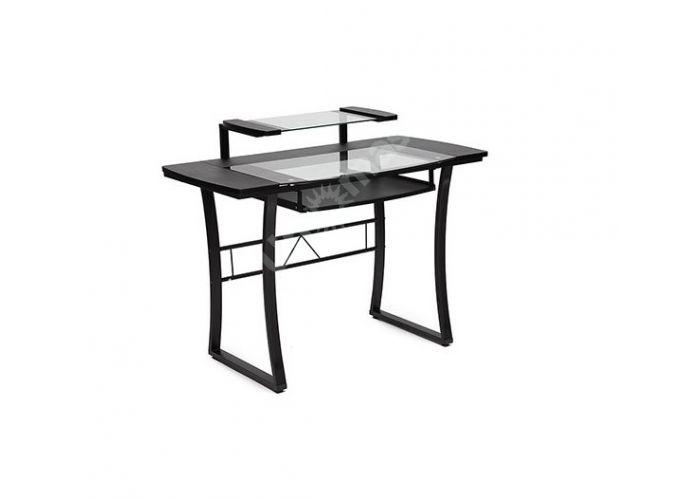 Стол WRX-05 прозрачное стекло, черный МДФ / черный каркас, Офисная мебель, Компьютерные и письменные столы, Стоимость 9471 рублей.
