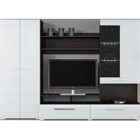 Вега ТД-196.01 Набор мебели для общей комнаты Венге Линум / Белый глянец