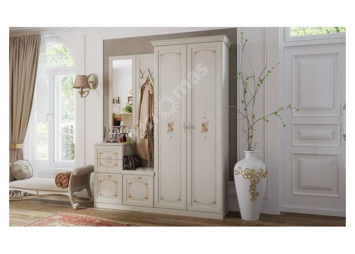 Лючия, ТД-235.07.22 Каркас шкафа для одежды + ТД-235.07.12 Дверь с зеркалом (2 шт.)