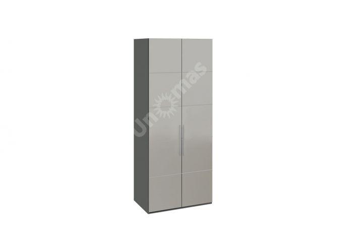 Наоми, ТД-208.07.02 Каркас шкафа для одежды + ТД-208.07.12L Дверь с зеркалом + ТД-208.07.12R Дверь с зеркалом