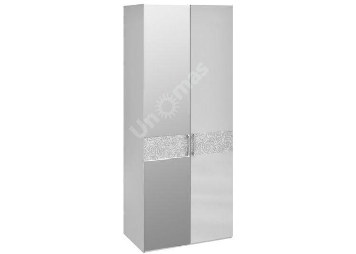 Амели, 193.07.02 Каркас шкафа для одежды+ТД-193.07.11 Дверь+ТД-193.07.12 Дверь с зеркалом, Спальни, Шкафы, Стоимость 30741 рублей.