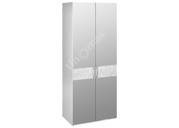 Амели, 193.07.02 Каркас шкафа для одежды+ТД-193.07.12 Дверь с зеркалом (2шт.), Спальни, Шкафы, Стоимость 34496 рублей.