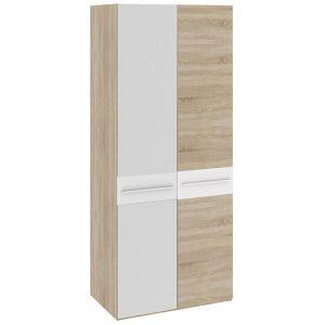 Ларго Дуб сонома / Белый глянец, ПМ-181.07.02 Каркас шкафа+ПМ-181.07.11 Дверь+ПМ-181.07.12 Дверь с зеркалом