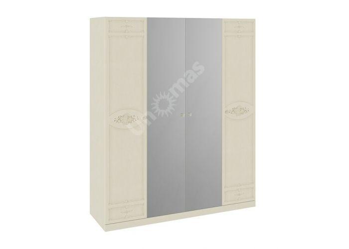 Лорена, Каркас шкафа с 4 дверями ТД-254.07.44 + Дверь ТД-254.07.11 + Дверь ТД-254.07.11 + Дверь с зеркалом ТД-254.07.12 + Дверь с зеркалом ТД-254.07.12   , Спальни, Шкафы, Стоимость 23333 рублей.