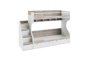 Ривьера, Кровать 2-х ярусная (без лестницы) ТД-241.11.01 + Лестница приставная для кровати 2-х ярусной ТД-241.11.12