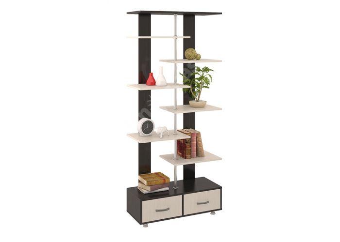 Стеллаж тип 7 Венге Цава / Дуб молочный, Офисная мебель, Офисные пеналы, Стоимость 5279 рублей.