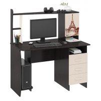 Студент-Класс (М) Стол компьютерный с рисунком Венге цава / Дуб молочный