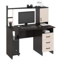 Студент-Класс (М) Стол компьютерный Венге цава / Дуб молочный