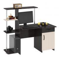 Студент-Стиль (М) Стол компьютерный Венге цава / Дуб молочный