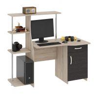 Студент-Стиль (М) Стол компьютерный Дуб Сонома / Венге Цава