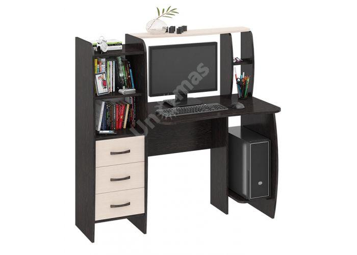 Школьник-Класс (М) Стол компьютерный Венге Цава / Дуб молочный, Офисная мебель, Компьютерные и письменные столы, Стоимость 7247 рублей.