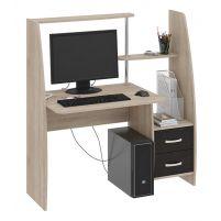 Школьник-Стиль (М) Стол компьютерный  Дуб Сонома / Венге Цава