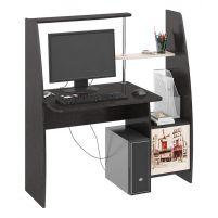 Школьник-Стиль (М) Стол компьютерный с рисунком Венге Цава / Дуб молочный