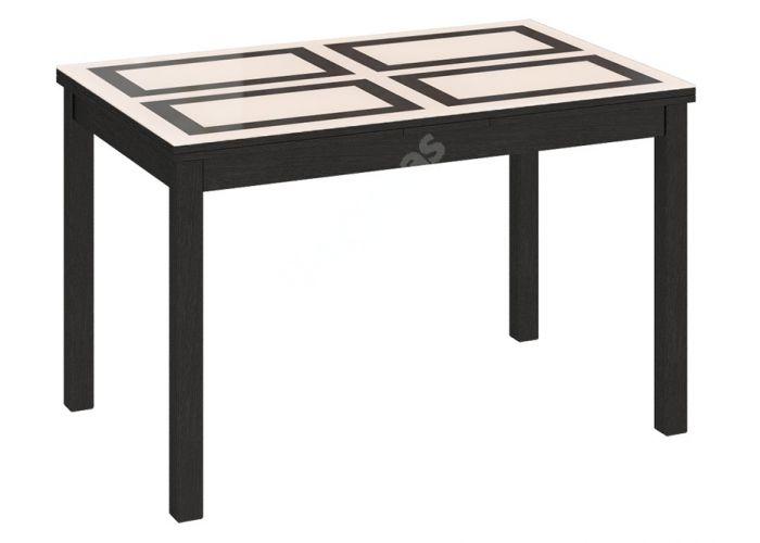 Диез Т11 Cтол со стеклом С-343 Венге / Стекло с рисунком, Кухни, Обеденные столы, Стоимость 15765 рублей.